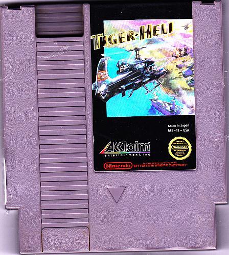 Tiger-Heli - Nintendo Nes 1987 Video Game - Good