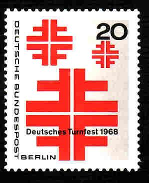 German MNH Scott #9N266 Catalog Value $.30