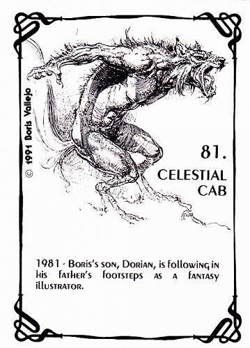 Celestial Cab #81 - Boris 1992 Fantasy Art Trading Card