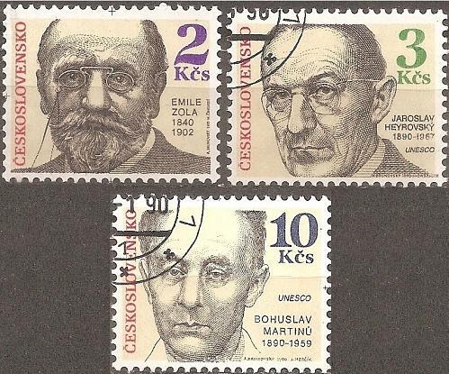 [CZ2774] Czechoslovakia: Sc. no. 2774-2776 (1990) CTO