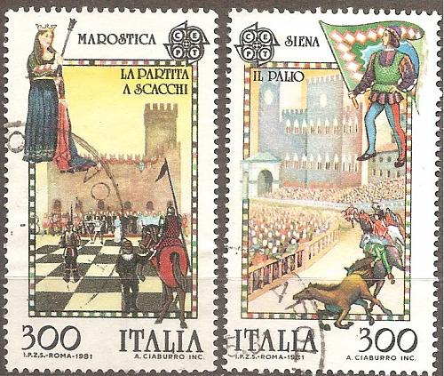 [IT1455] Italy: Sc. no. 1455-1456 (1981) Used Complete Set