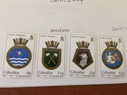 Gibraltar Naval arms 1991 mnh