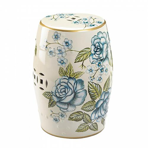JUST IN!!! Antique Floral Garden Stool