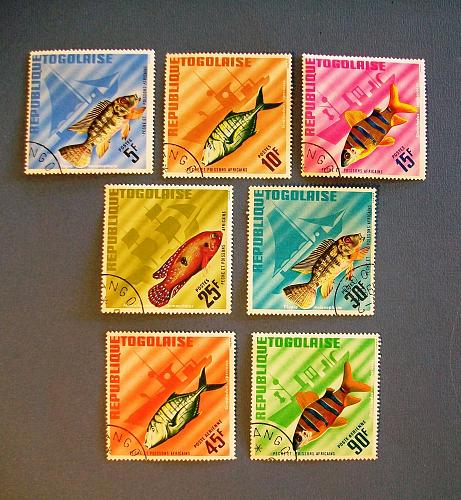 """1967 Togo """"Fish in Natural Colors Stamps"""
