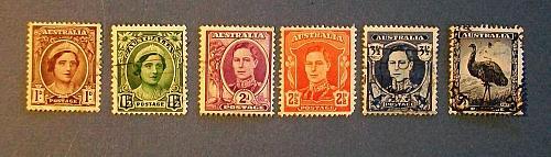 "1942-44 Australia ""Definitives-Royal Family"""