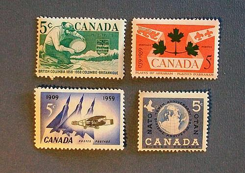 """1958-59 Canada """"A Variety Packet"""""""