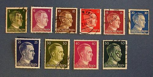 1941-44 Germany (Empire Era) 1941-44 Hitler Daily Stamps