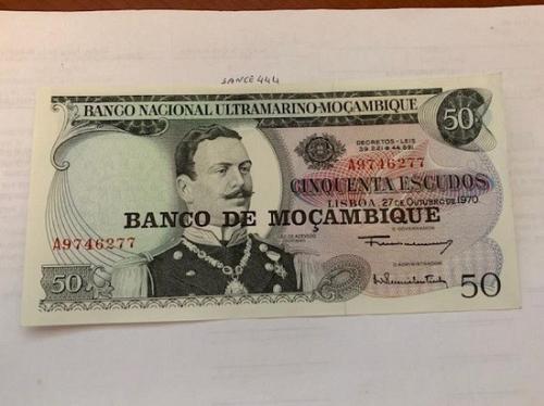 Mozambique 50 escudos banknote 1970