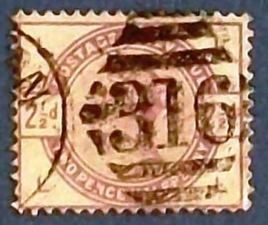"1883-84 Great Britain ""Queen Victoria -Purple-Violet """