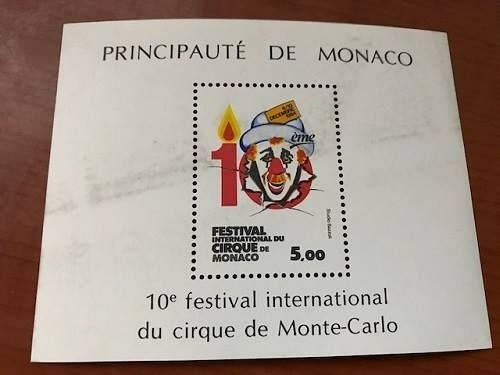 Monaco International Circus Festival s/s 1984 mnh