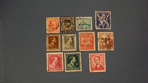 """Belgium """"A Variety Packet including Railway Stamps (1954-56)"""""""