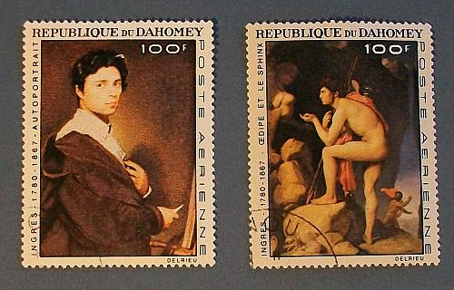 "1967 Dahomey (Benin) ""100th death anniversary of Jean August Ingres"