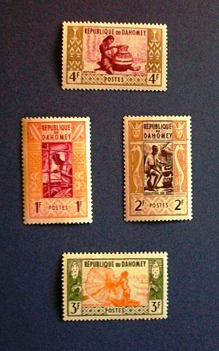 "New Zealand ""Variety Packet""1961 Dahomey (Benin) ""Worker's, Potter, Fishing etc"""