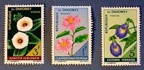 "1967 Dahomey (Benin) ""Flowers"""