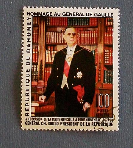 1967 Dahomey (Benin) President DeGaulle