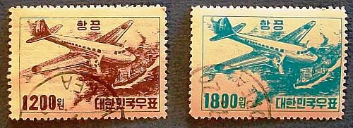 "1952 Korea ""DC 3 over freighter"""