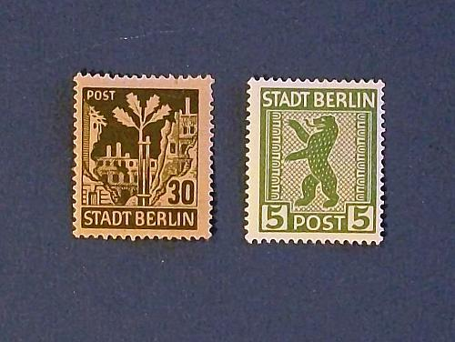 """1945 Germany (Russian Zone) """"Stadt Berlin Stamps"""