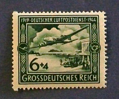"""1944 Germany (Third Reich Era) """"25th Anniversary of Airmail"""""""