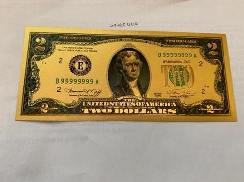 Super special : Gold foil 7 banknotes set souvenir