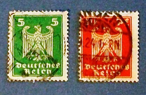"1924 Germany (Empire Era) ""Imperial Eagle"" Stamps"