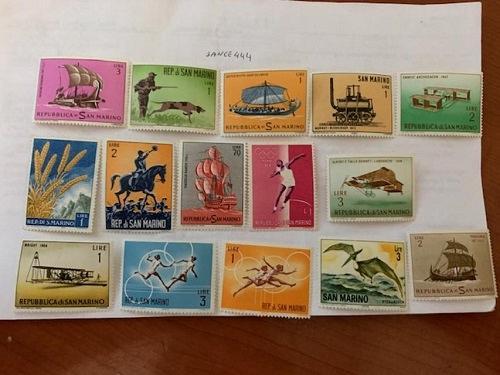 San Marino mnh stamps lot n.8