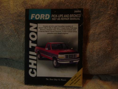 "Chilton's Ford Repair Manual 1987-1996 #26664 ""Pick-ups / Bronco"""