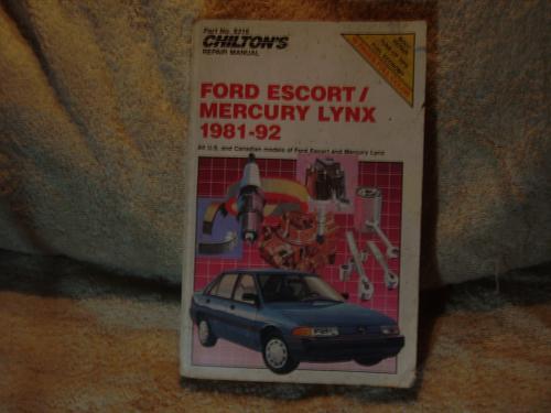 "Chilton's Ford Repair Manual 1981-1992 #8316 ""Escort / Mercury Lynx"""