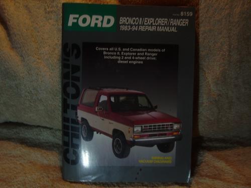 Chilton's Ford Repair Manual 1983-1994 #8159 Bronco ll / Explorer / Ranger