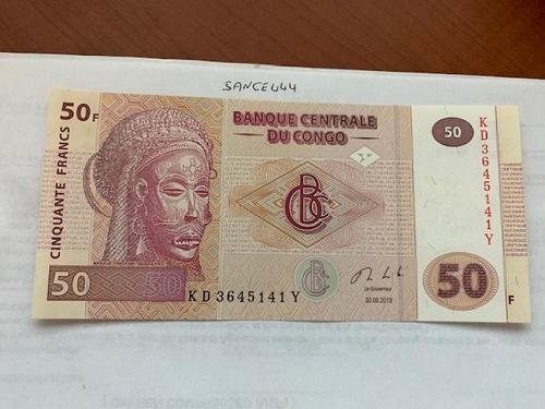 Congo 50 francs uncirc. banknote 2013