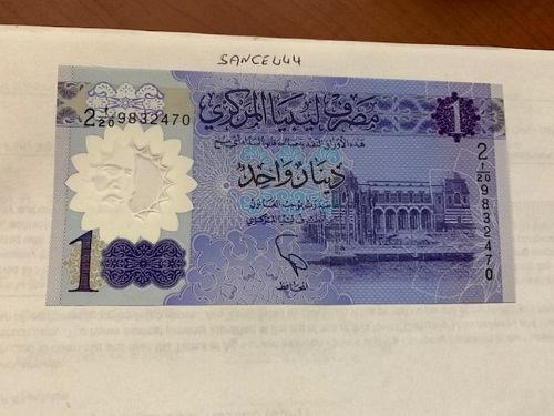 Libya 1 dinar uncirculated polymer banknote 2019