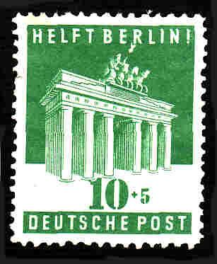 German Hinged Scott #B302 Catalog Value $2.40