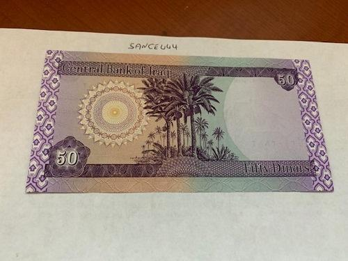 Iraq 50 dinar lot of 5 crispy banknotes mnh