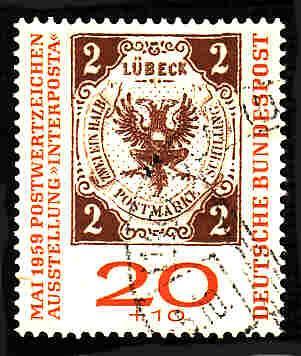 German Used Scott #B367 Catalog Value $.65