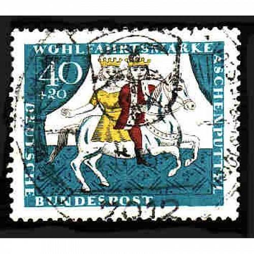 German Used Scott #B411 Catalog Value $.60