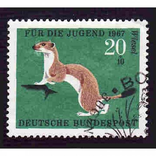 German Used Scott #B423 Catalog Value $.35