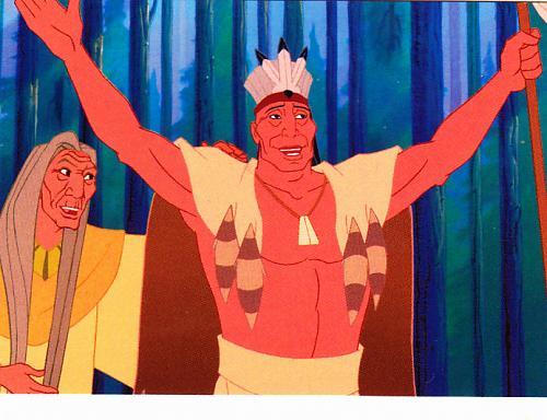 Powhatan Village #7 - Disney Pocahontas 1995 Trading Card