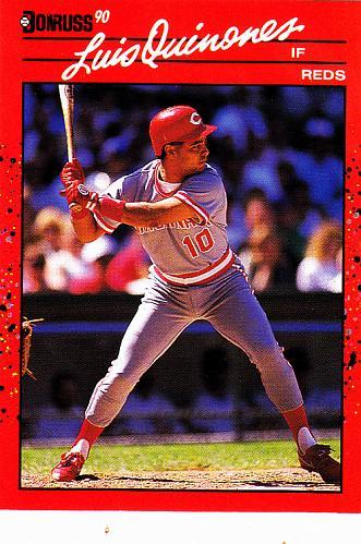 Luis Quinones #595 - Reds 1990 Donruss Baseball Trading Card
