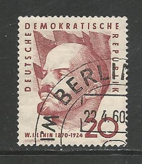 German DDR Used Scott #499 Catalog Value $.25