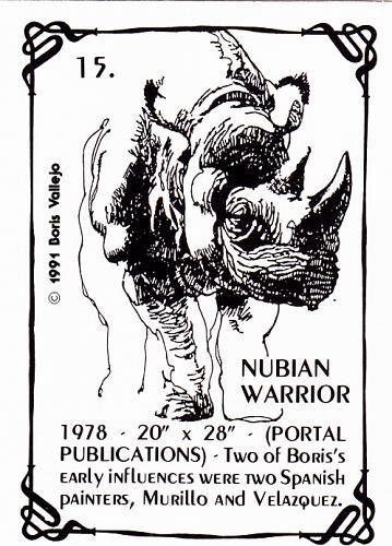 Nubian Warrior #15 - Boris 1991 Fantasy Art Trading Card