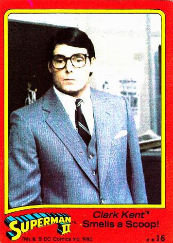 Clark Kent Smells a Scoop #16 - Superman II Comic 1980 Trading Card