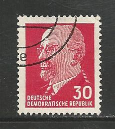 German DDR Used Scott #587 Catalog Value $.25