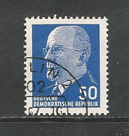 German DDR Used Scott #589 Catalog Value $.25