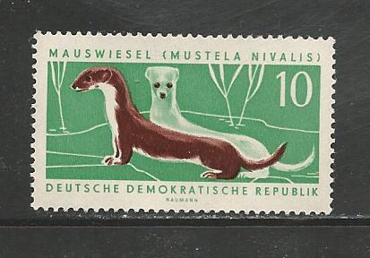 German DDR Hinged Scott #592 Catalog Value $.25