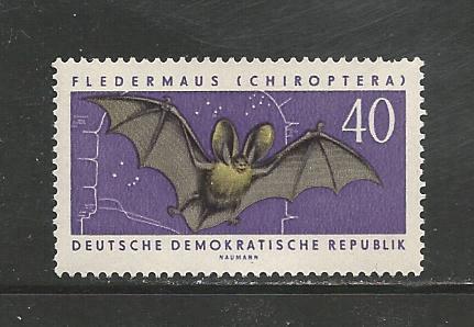 German DDR Hinged Scott #594 Catalog Value $.40