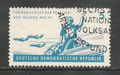 German DDR Used Scott #598 Catalog Value $.25
