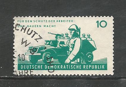 German DDR Used Scott #599 Catalog Value $.25