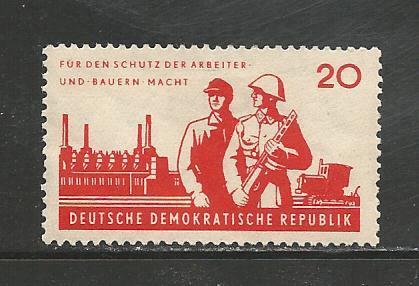 German DDR Hinged Scott #600 Catalog Value $.25