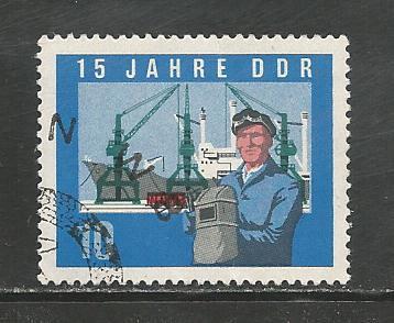 German DDR Used Scott #724 Catalog Value $30