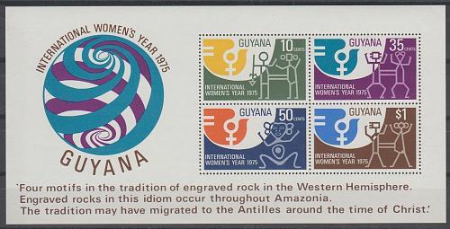 [GU0221] Guyana: Sc. no. 221a (1975) MNH Miniature Sheet