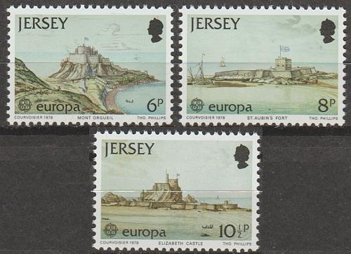 [JR0187] Jersey: Sc. no. 187-189 (1978) MNH Full Set